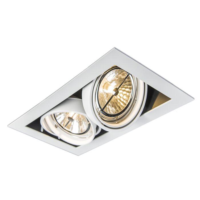 Recessed-Spotlight-white-adjustable-2-light---Oneon-111-2