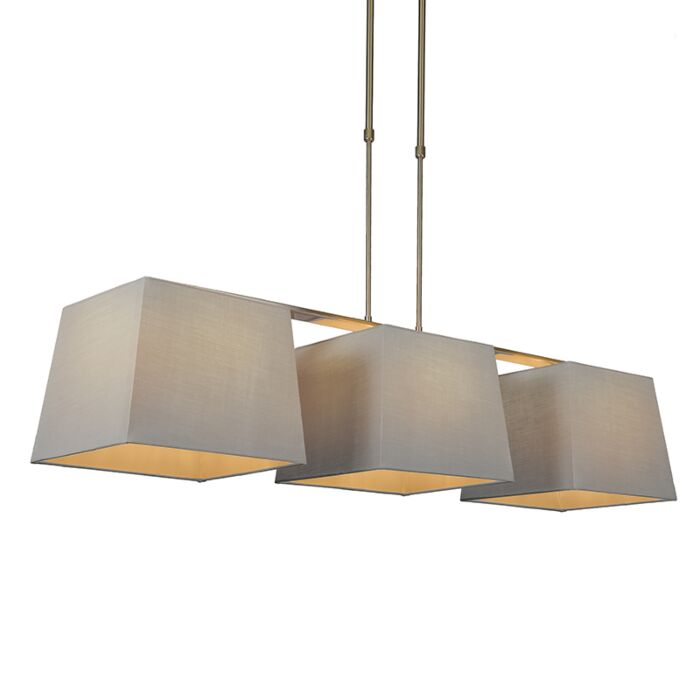 Pendant-Lamp-Combi-Delux-3-with-Square-Shades-30cm-Grey