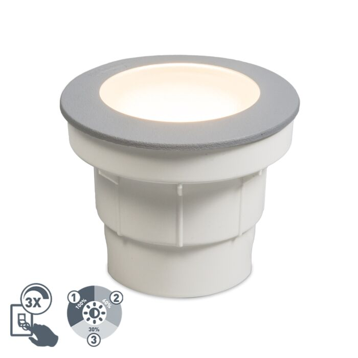Modern-outdoor-ground-spot-gray-incl.-LED-IP67---Ceci