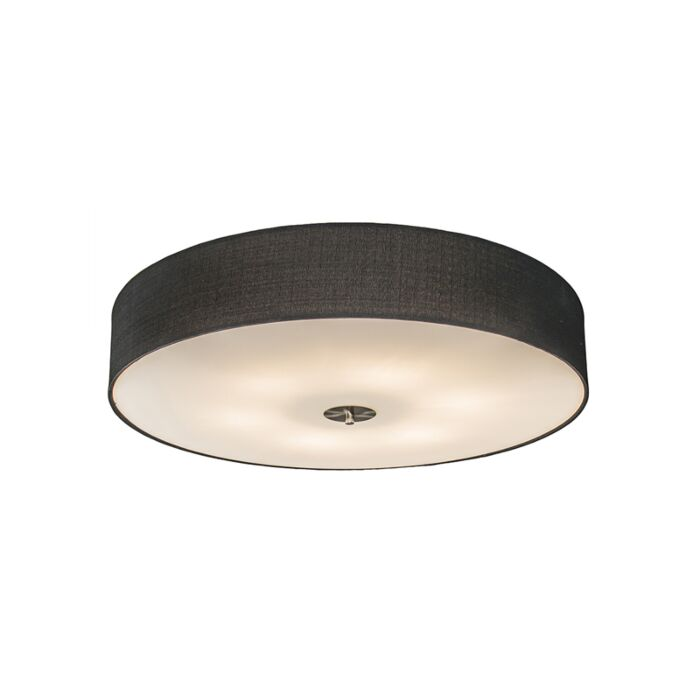 Country-ceiling-lamp-black-70-cm---Drum-Jute