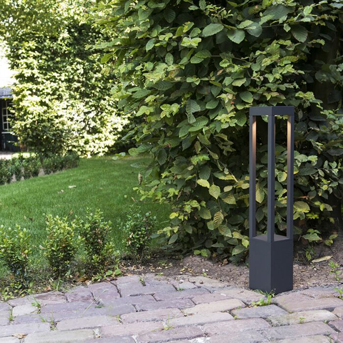 Outdoor-lamp-Krosno-Pillar-Square-Dark-Grey