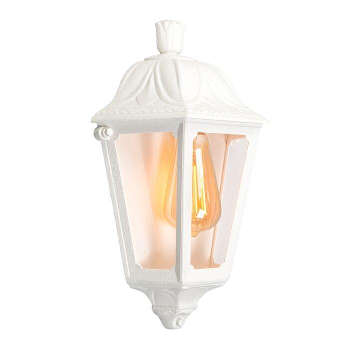 Classic-outdoor-wall-lantern-white-IP55---Iessie