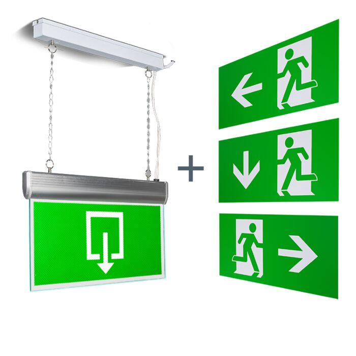 Modern-Rectangle-Pendant-Lamp-Emergency-Exit---Emergency