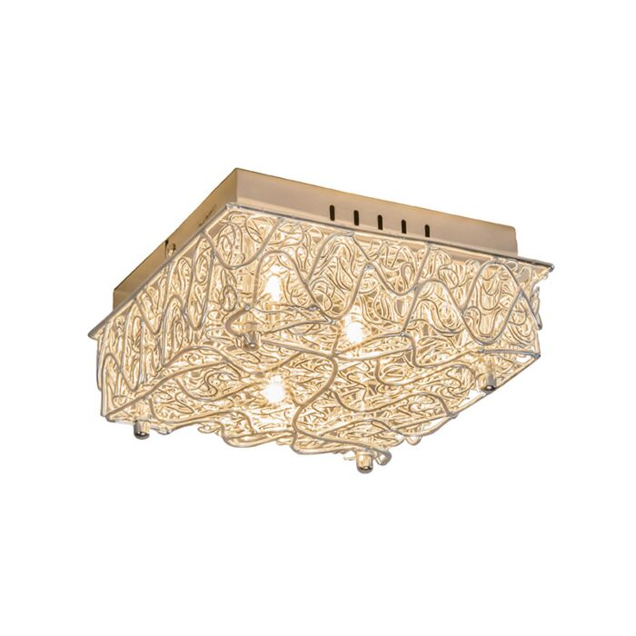 Wall-Lamp-Draht-Steel