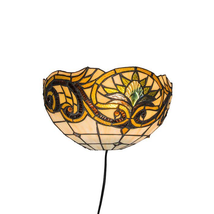 Wall-Lamp-Tiffany-Sunflower