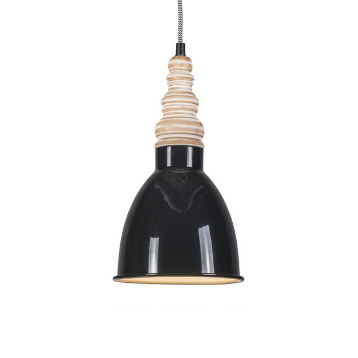 Pendant-Lamp-Oak-Black