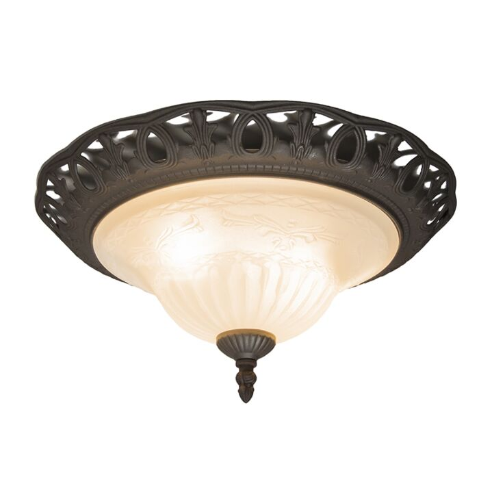 Rustic-brown-ceiling-lamp-with-glass---Elegant