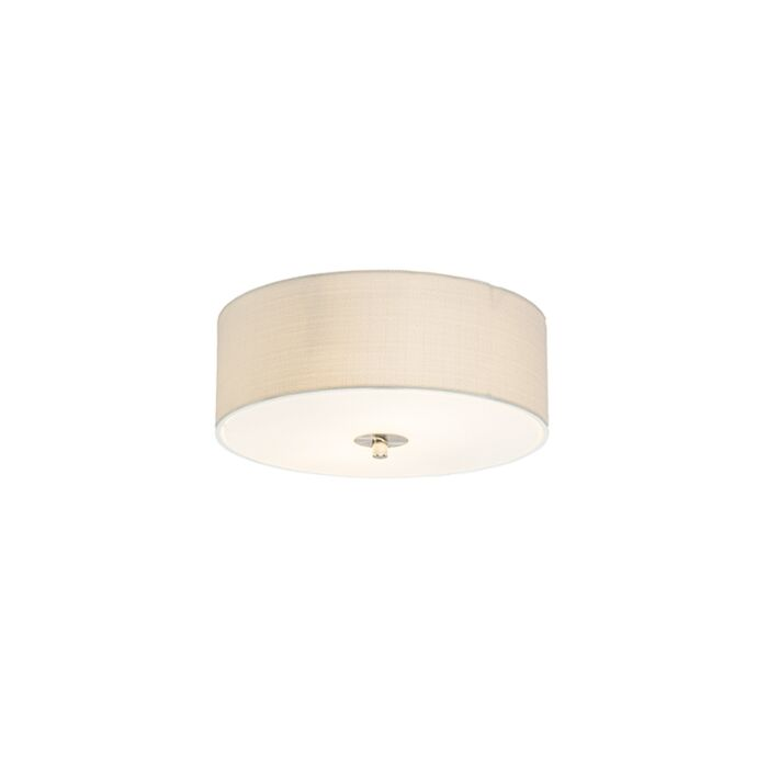 Country-Ceiling-Lamp-30cm-Off-White---Drum-Jute