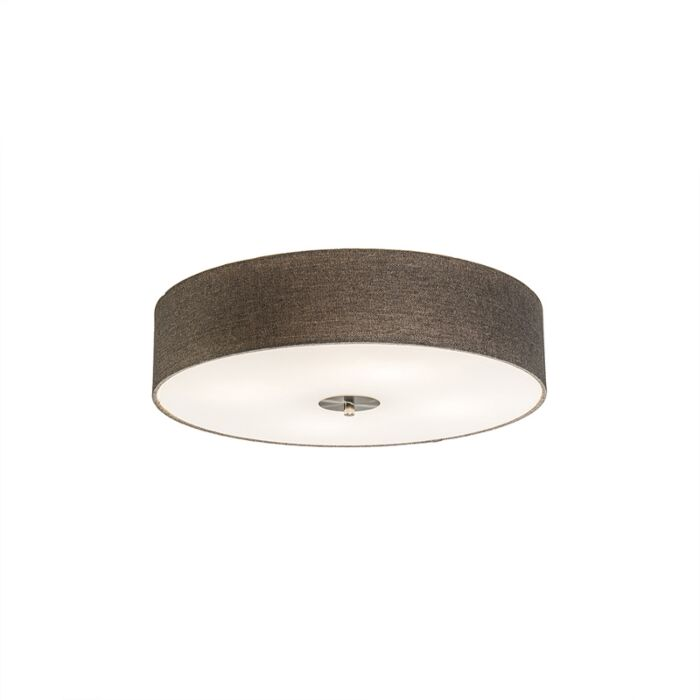 Country-Ceiling-Lamp-50cm-Taupe---Drum-Jute