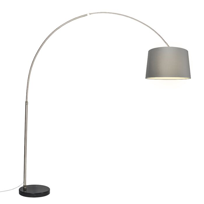 Arc-Lamp-XXL-Steel-with-Shade-50cm-Grey