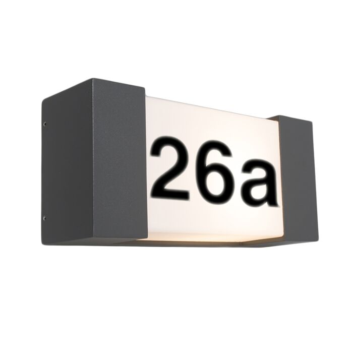 Outdoor-Wall-Lamp-Graphite-IP54-with-House-Number-Sticker---Tide-H
