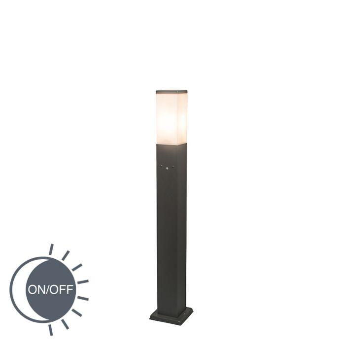 Outdoor-Pole-Malios-80cm-with-LUX-Sensor-Dark-Grey