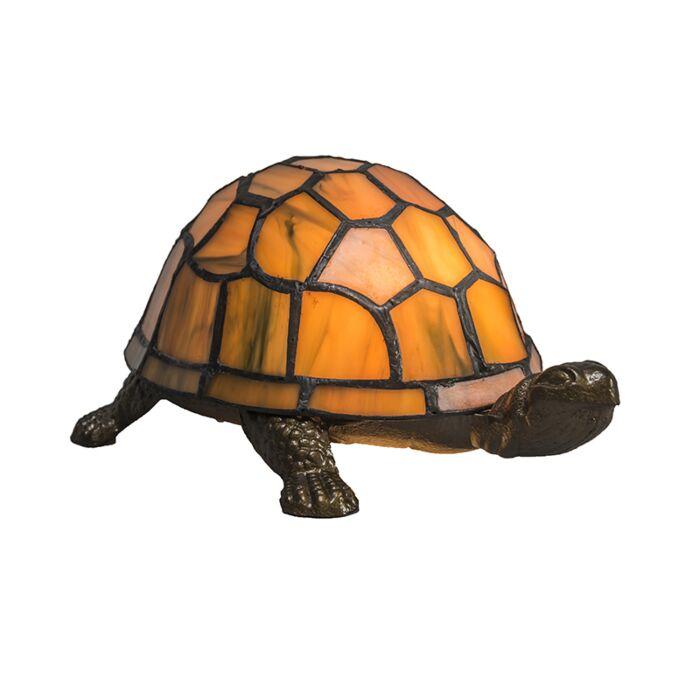Table-Lamp-Tiffany-Turtle-Amber