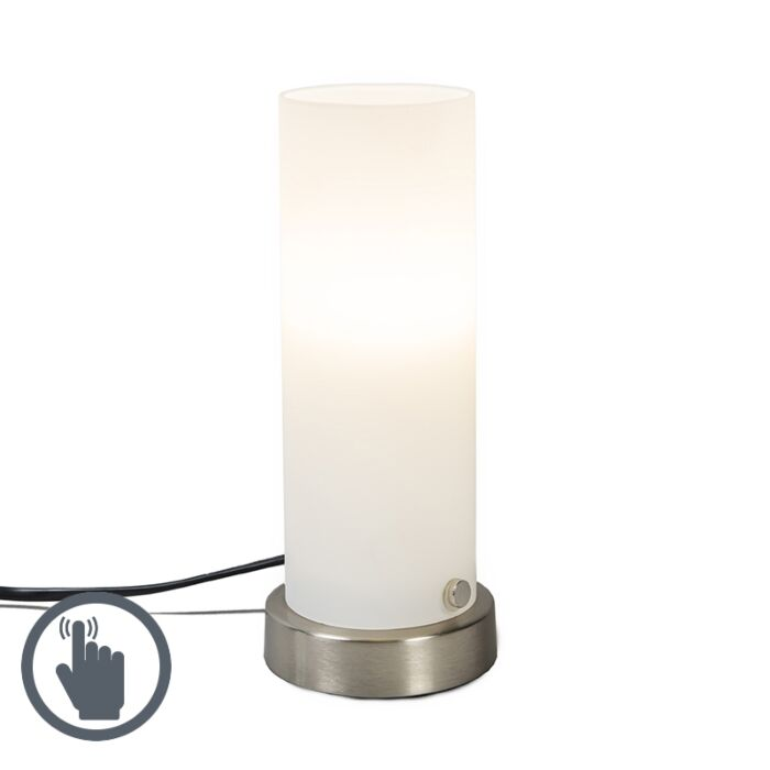 Table-Lamp-Tube-Touch-White