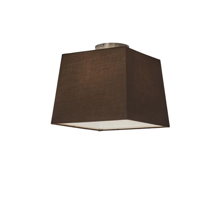 Ceiling-Lamp-Combi-with-Square-Shade-30cm-Brown