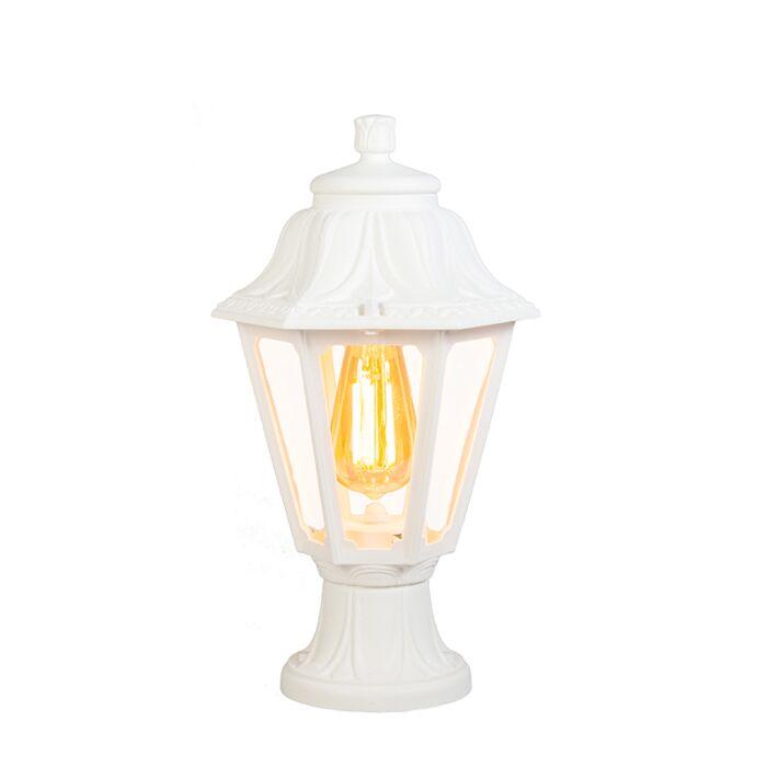 Country-Outdoor-Pedestal-Lantern-Lamp-White-IP44---Anna