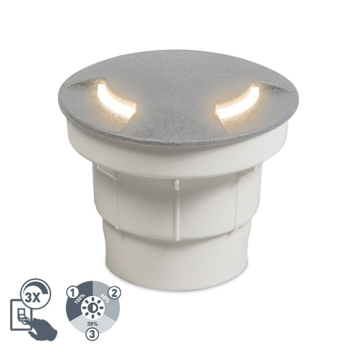 Modern-outdoor-ground-spot-gray-incl.-LED-IP67---Ceci-2