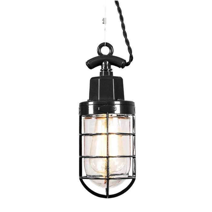 Pendant-Lamp-Port-Black
