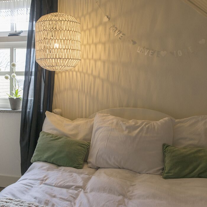 Retro-hanging-lamp-white-40-cm---Lina-Hive-40