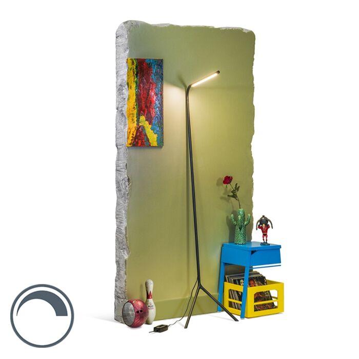 Modern-Floor-Lamp-Black-incl.-LED---Lazy