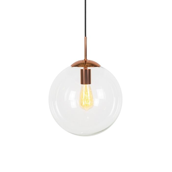 Modern-Pendant-Lamp-Copper-with-Glass-Shade---Ball-30