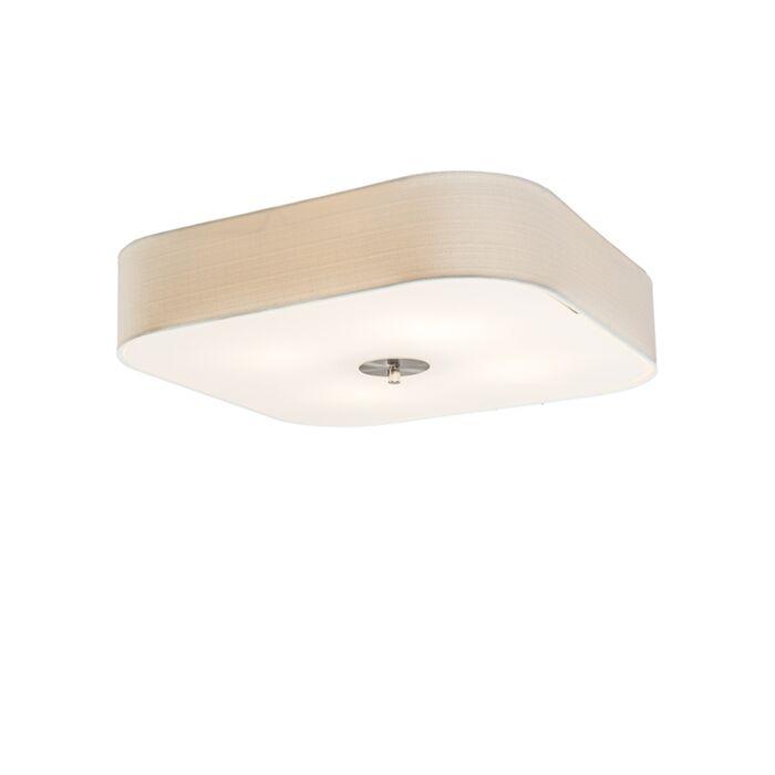 Square-Ceiling-lamp-50cm-White---Drum-Deluxe-Jute
