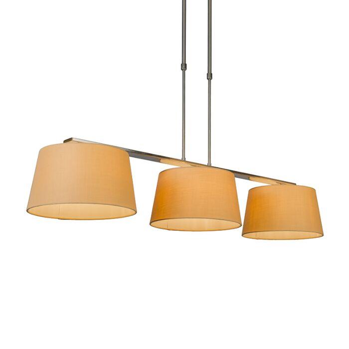 Pendant-Lamp-Combi-Delux-3-with-Round-Shades-30cm-Beige