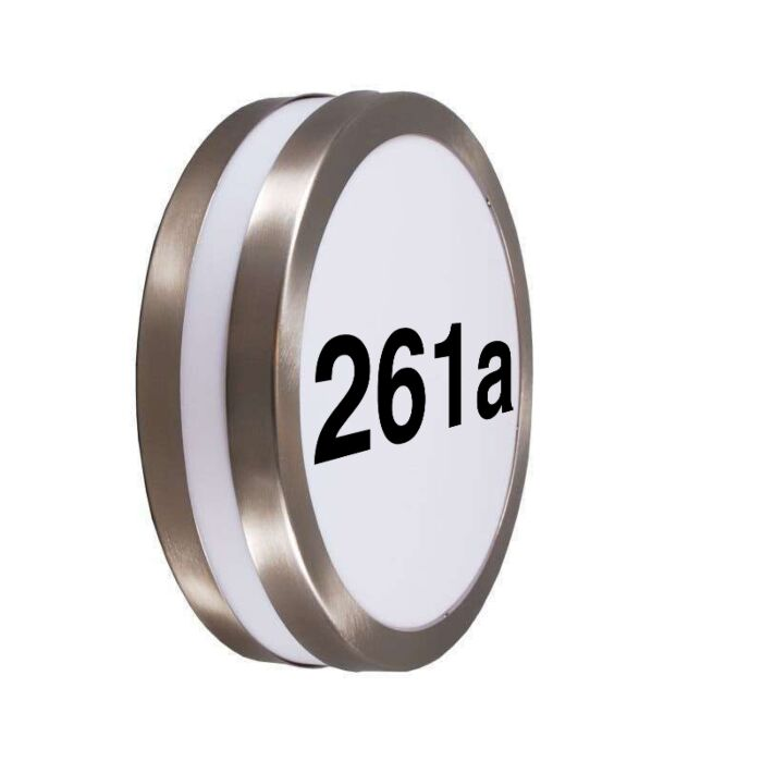 Outdoor-Wall-Lamp-Steel-IP44-with-House-Number-Sticker---Leeds