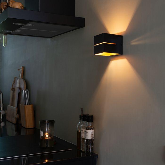Modern-wall-lamp-black-/-gold---Transfer-2