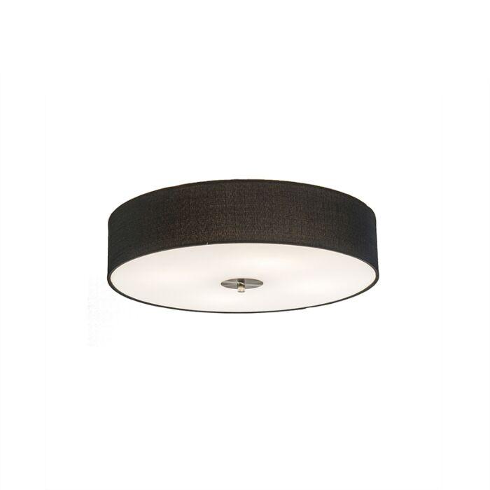 Country-Ceiling-Lamp-50cm-Black---Drum-Jute