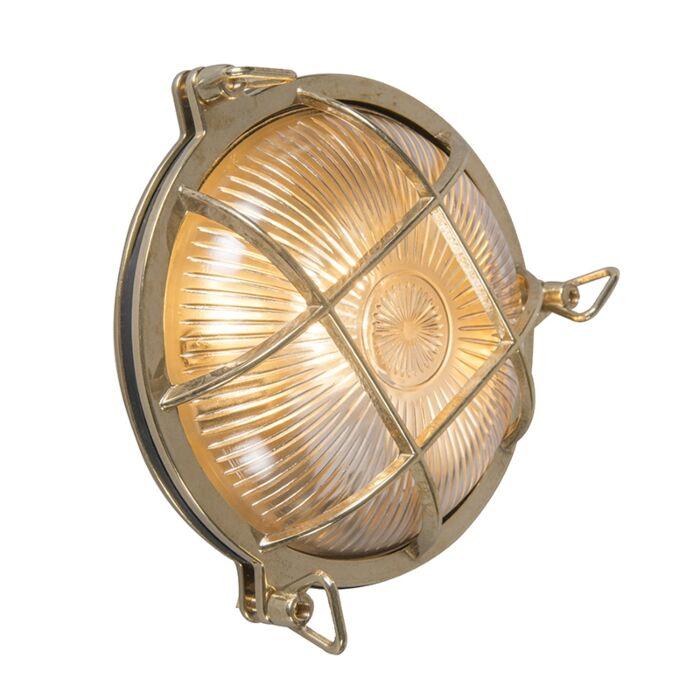 Retro-wall-lamp-gold-IP44---Nautica-round