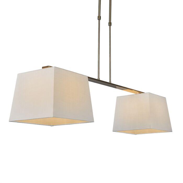 Pendant-Lamp-Combi-Delux-2-with-Square-Shades-30cm-White