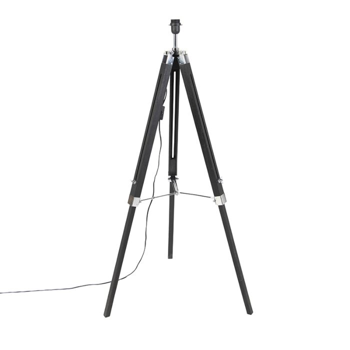 Floor-Lamp-Black-without-Shade---Tripod