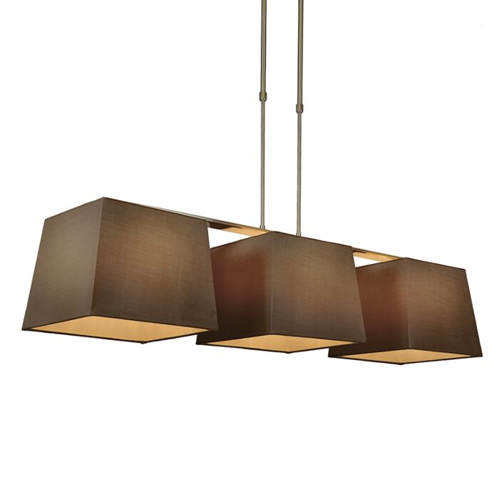 Pendant-Lamp-Combi-Delux-3-with-Square-Shades-30cm-Brown