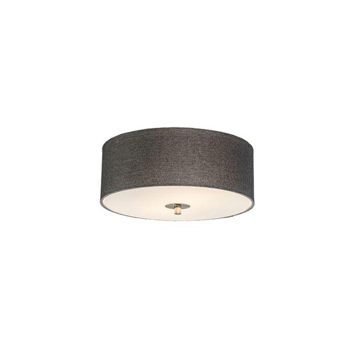 Country-Ceiling-Lamp-30cm-Grey---Drum-Jute