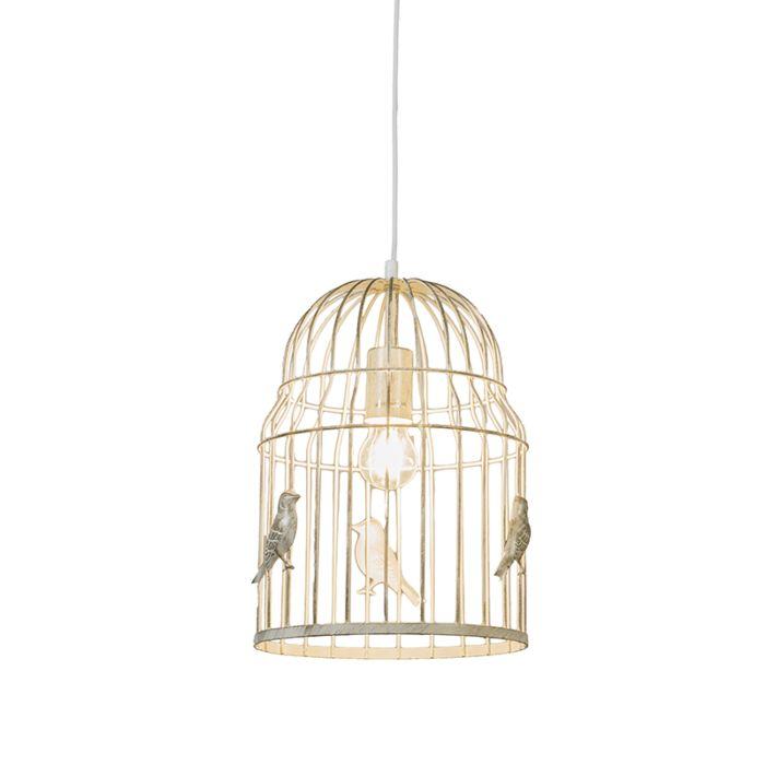Pendant-Lamp-Birdcage-White