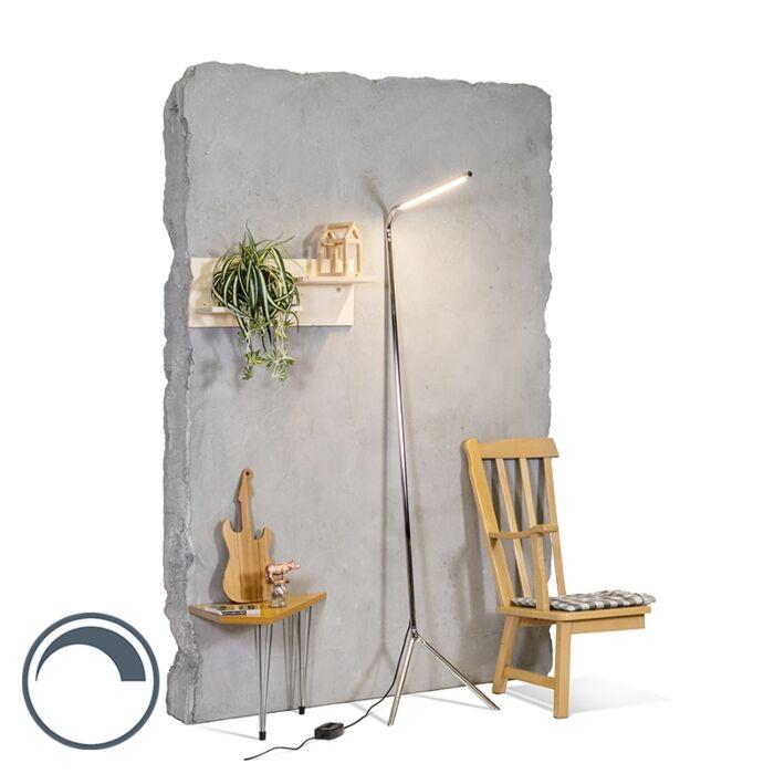 Modern-Floor-Lamp-Chrome-incl.-LED---Lazy