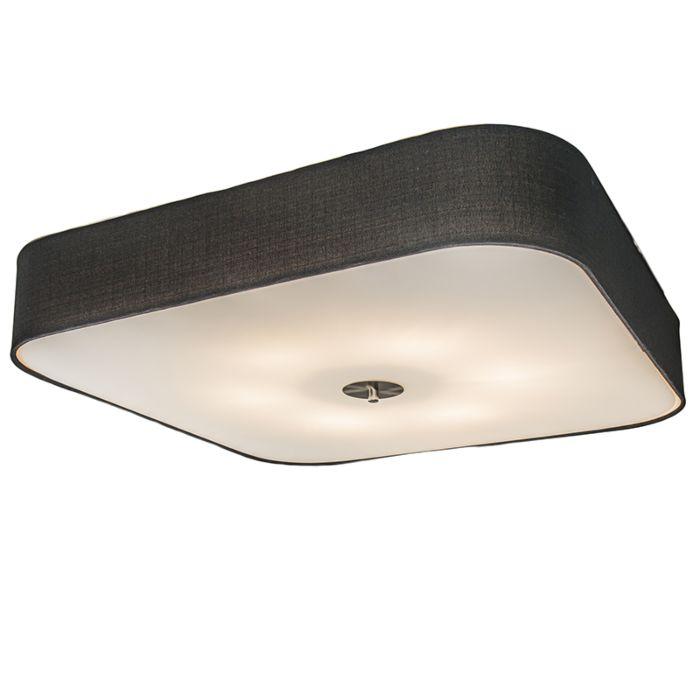 Ceiling-Lamp-Drum-Deluxe-70-Square-Jute-Black