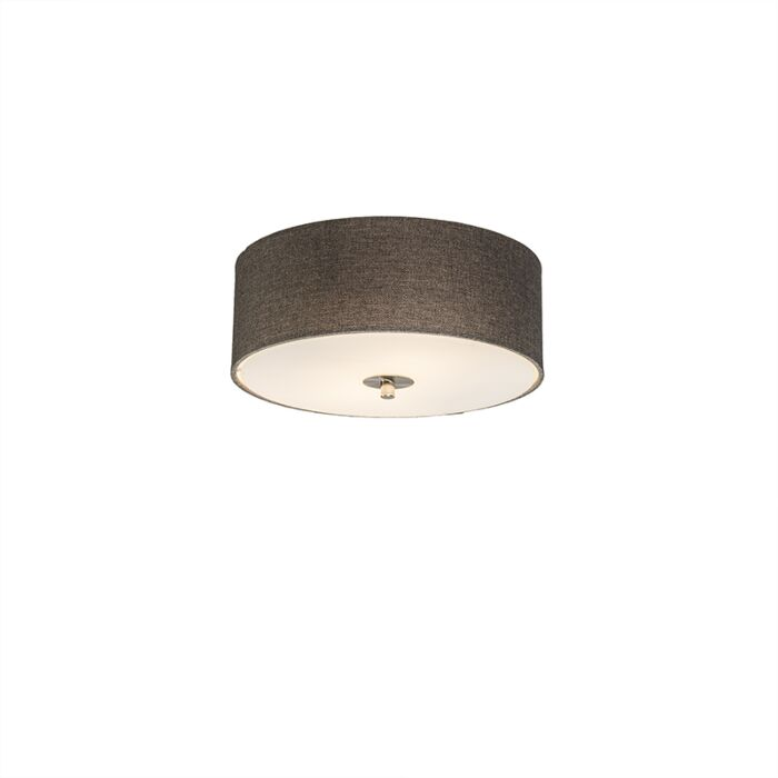 Country-Ceiling-lamp-30cm-Taupe---Drum-Jute