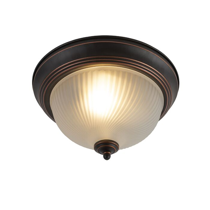 Classic-ceiling-lamp-brown-opal---Classico