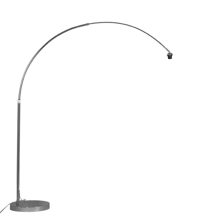 Modern-arc-lamp-chrome-adjustable-without-shade