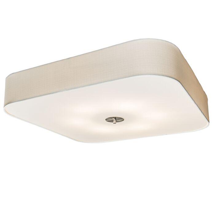 Square-Ceiling-Lamp-70cm-White---Drum-Deluxe-Jute