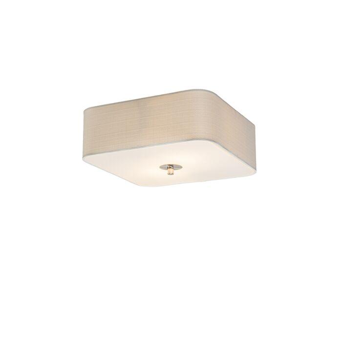 Ceiling-lamp-square-white-30-cm---Drum-deluxe-Jute