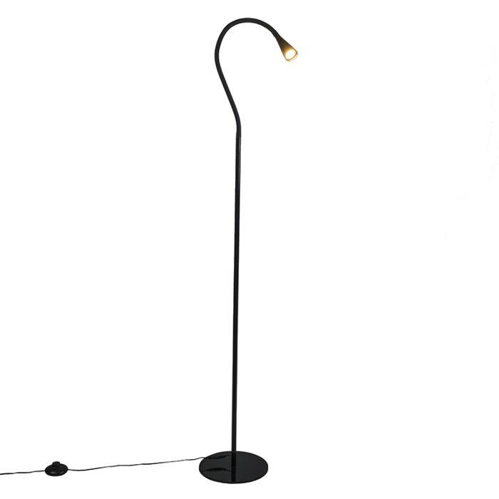 Floor-Lamp-Swan-Black-LED