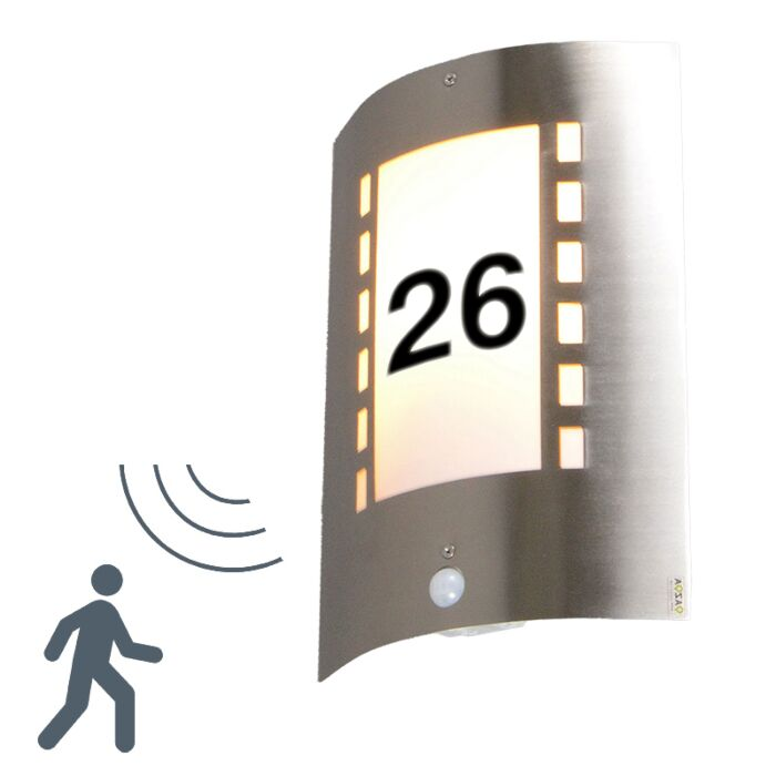 Outdoor-Lamp-Emmerald-IR-Motion-Sensor-with-House-Number-Stickers