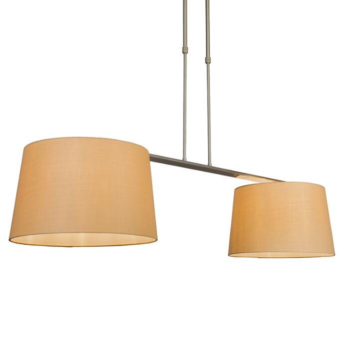 Pendant-Lamp-Combi-Delux-2-with-Round-Shades-40cm-Beige