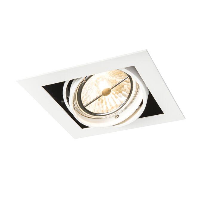 Recessed-Spotlight-white-square-adjustable-1-light---Oneon-111-1