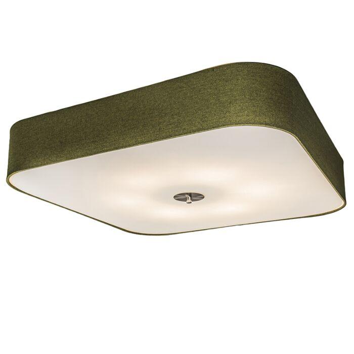 Ceiling-Lamp-Drum-Deluxe-70-Square-Jute-Green