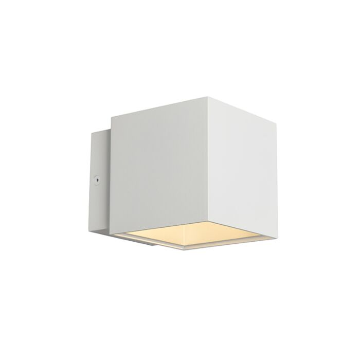 Wall-Lamp-Caja-White/Silver