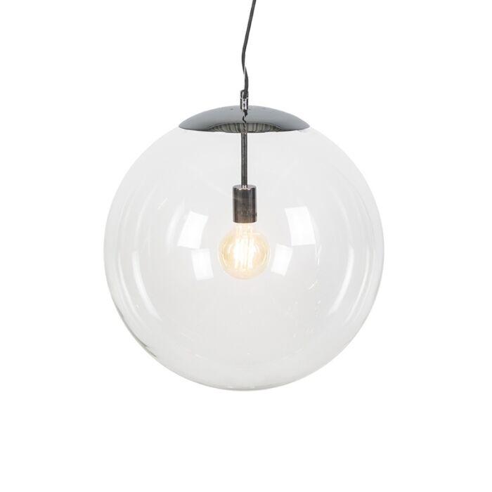 Modern-Pendant-Lamp-Chrome-with-Glass-Shade---Ball-50